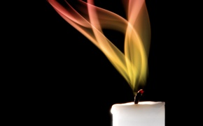 Wallpaper flame, candle, fire