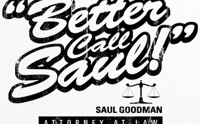 Picture the inscription, font, the series, fading, better call saul, better call Saul!