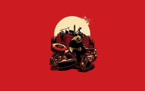 Picture Red, Panda, blood, Red, kill, panda, Angry Panda
