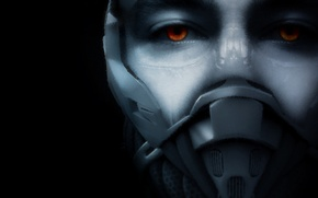 Picture eyes, face, mask, cyborg, crysis