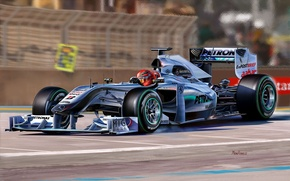 Picture figure, team, race, pilot, the car, Mercedes-benz, Michael Schumacher, Formula 1, Michael Schumacher, Formula One …