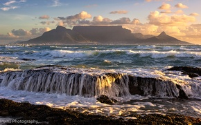 Picture mountains, the ocean, South Africa, South Africa, Cape Town, Cape town