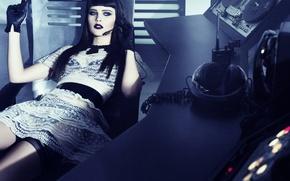 Wallpaper headphones, radio, Felicity Jones, Felicity Jones