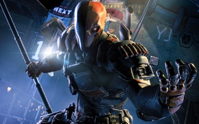 Picture Batman, Deathstroke, Arkham Origins