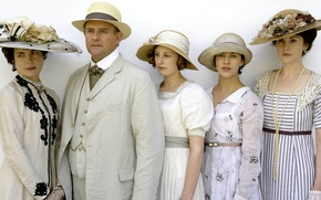 Wallpaper Jessica Brown Findlay, Downton Abbey, Hugh Bonneville, Elizabeth McGovern, Mary Crowley, Sybil Crawley, Edith Crawley, ...