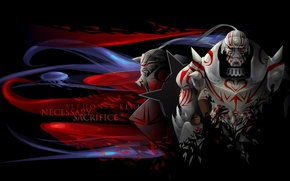 Wallpaper ahimia, Fullmetal alchemist, fullmetal alchemist, Elric, Alfonso, anime, armor
