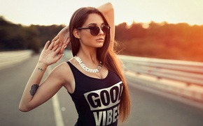 Picture Girl, Good, Model, Black, View, Glasses, Mike, Vibes