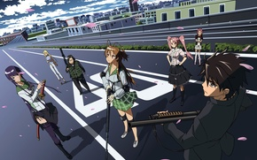 Picture Shizuka Marikawa, Takashi Komuro, Saeco Busujima, Ray Miyamoto, Saya Takagi, High School Of The Dead, …