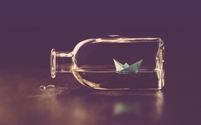 Picture background, ship, bottle