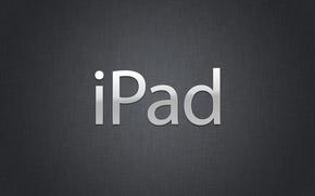 Picture Ipad, black, metall