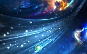 Wallpaper blue, stars, Stream