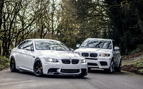Picture Road, BMW, BMW, Lights, White, White, E92, X5M, E72