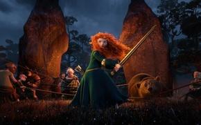 Wallpaper Archer, bear, the movie, the Scots, dolmens, archer, Princess, Brave heart, Brave, Scotland, bear, Scotland, ...