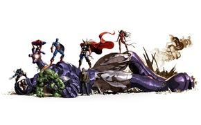 Picture background, Superheroes, Marvel Comics, Sentinel