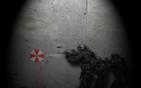 Picture weapons, blood, Soldiers, blood, soldier, weapon, Resident Evil, Resident Evil, Umbtella