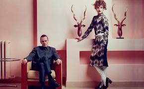 Picture interior, photoshoot, Michael Fassbender, Vogue, Natalia Vodianova