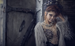 Picture look, decoration, style, model, necklace, makeup, Asian, hairstyle, chubaka