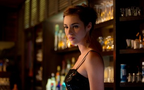 Picture bar, dress, actress, beautiful, Louise Bourgoin
