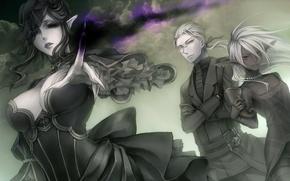 Picture clouds, magic, Elves, veil, widow