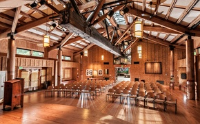Picture Lights, Room, Interior, Chairs, Architecture, Great Hall, Wood Materials