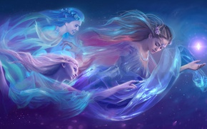 Wallpaper fantasy, art, girls, fantasy