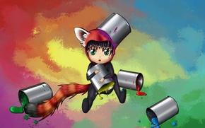 Picture paint, anime, neko