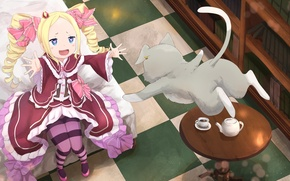 Picture anime, art, Beatrice, Puck, Re: Zero kara hajime chip isek or Seikatsu