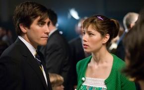 Wallpaper Jake Gyllenhaal, Jessica Biel, Jake Gyllenhaal, Jessica Biel, 2015, in the film, Love the catch, ...