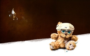 Picture toy, Bear, glasses