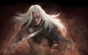 Picture sword, the Witcher, The Witcher, geralt, Geralt of Rivia, cd Projekt red