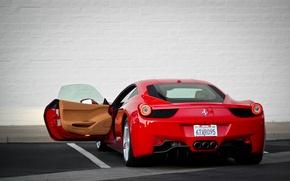 Picture machine, the door, Ferrari, Ferrari, supercar, 458, Italia