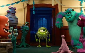 Picture Academy of monsters, MONSTERS UNIVERSITY, Mike Wazowski, Sulley, Monsters University