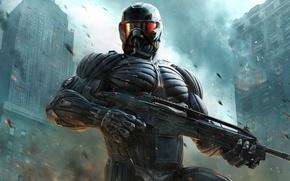 Picture The city, Weapons, Gun, Crysis 2, Crisis, Crytek