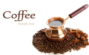 Picture background, coffee, grain, handle, coffee, Turk, ground