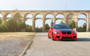 Picture red, bmw, BMW, coupe, red, wheels, e92