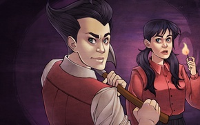 Picture Wilson, Don't Starve, indie game, survival, Willow, Klei Entertainment