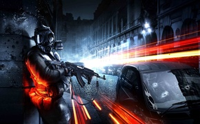 Wallpaper russian, machine, Battlefield 3, soldiers, machine, the city