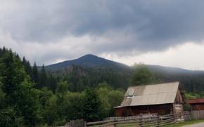 Picture mountains, Ukraine, Carpathians, biosphere reserve