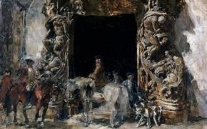 Picture picture, sculpture, The gate of the Palace del Marques de DOS Aguas, Francisco Domingo Marques