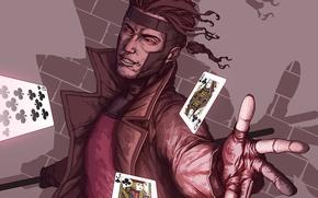 Picture card, X-Men, Marvel Comics, Gambit, mutant