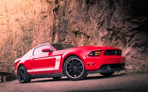 Picture mustang, red, ford, 302, boss