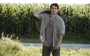 Picture road, field, actor, Superman, Superman, Clark Kent, Man of steel, Man of Steel, Henry Cavill, …