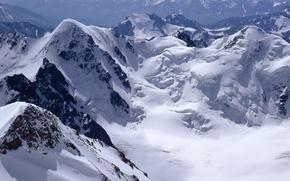 Wallpaper snow, mountains, rocks