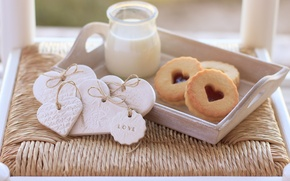 Picture love, heart, food, milk, cookies, love, cake, i love you, heart, food, sweet, milk, biscuits