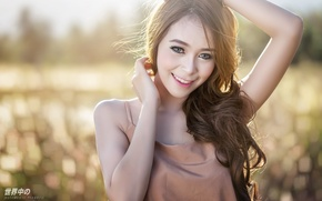 Picture Girl, Look, Smile, Face, Asian