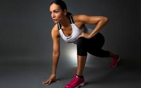 Picture shoes, pose, sportswear, elongation