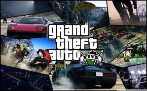 Picture machine, the plane, parachute, grand theft auto, gta v