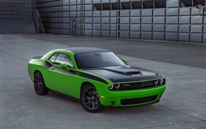 Picture car, machine, lights, the hood, Dodge, Challenger, muscle car, the front, air intake, T/A