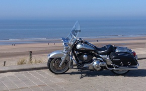 Picture Harley, Mood, Sea, The coolest motorcycle