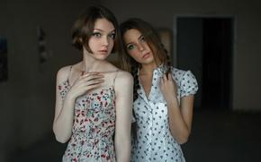 Picture two girls, friend, Two, George Chernyadev, Kseniya Kokoreva, Ola Pushkina